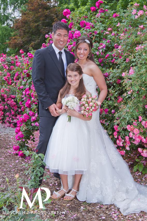 Park of Roses Wedding Portraits, Clintonville, Ohio
