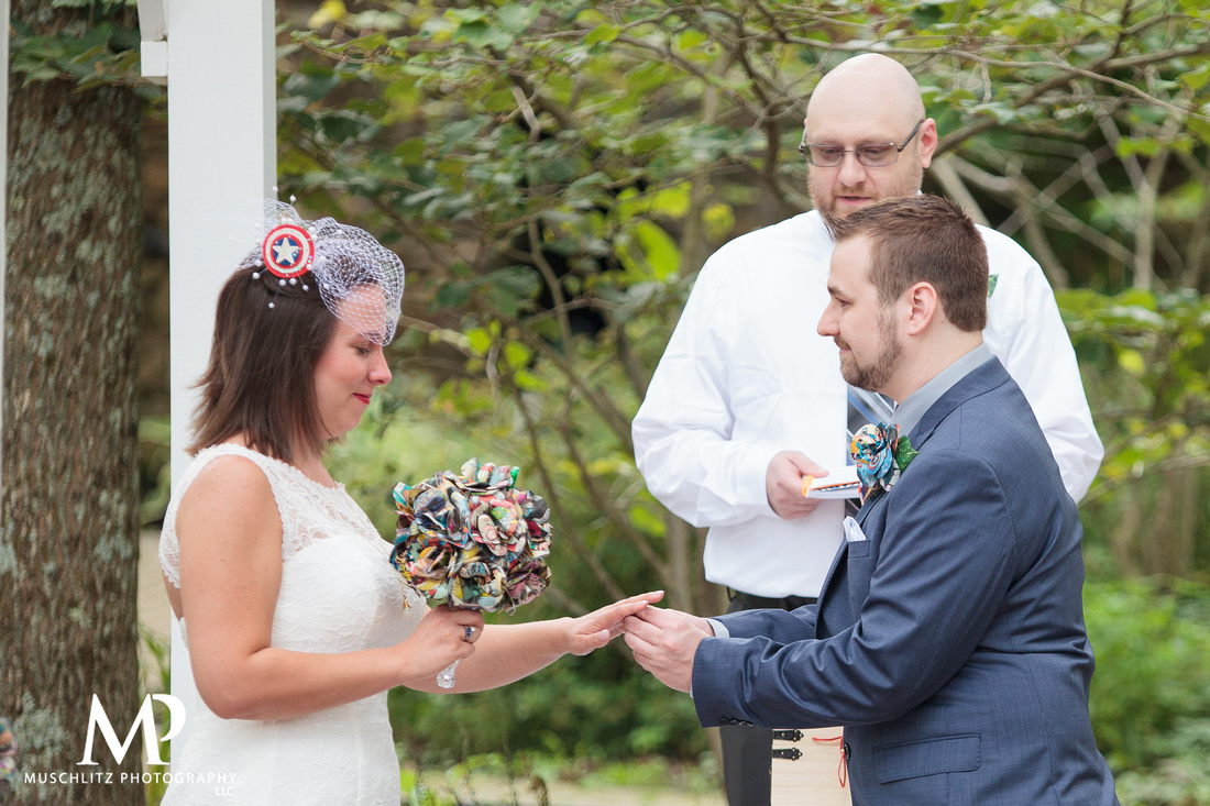 summer-marvel-comic-book-wedding-ceremony-bride-groom-wedding-party-portraits-photos-muschlitz-photography-landolls-mohican-castle